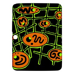 Orange and green abstraction Samsung Galaxy Tab 3 (10.1 ) P5200 Hardshell Case