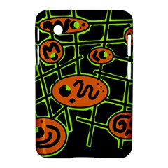 Orange and green abstraction Samsung Galaxy Tab 2 (7 ) P3100 Hardshell Case
