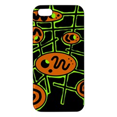 Orange and green abstraction iPhone 5S/ SE Premium Hardshell Case