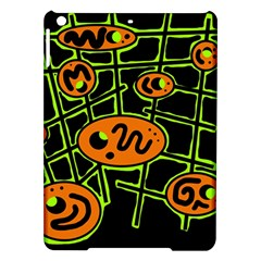 Orange and green abstraction iPad Air Hardshell Cases