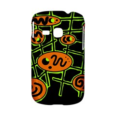Orange and green abstraction Samsung Galaxy S6310 Hardshell Case