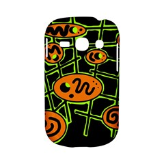 Orange and green abstraction Samsung Galaxy S6810 Hardshell Case