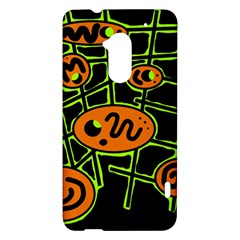 Orange and green abstraction HTC One Max (T6) Hardshell Case