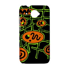 Orange and green abstraction HTC Desire 601 Hardshell Case