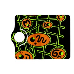 Orange and green abstraction Kindle Fire HD (2013) Flip 360 Case