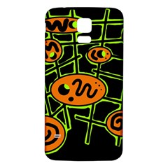 Orange and green abstraction Samsung Galaxy S5 Back Case (White)