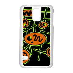 Orange and green abstraction Samsung Galaxy S5 Case (White)