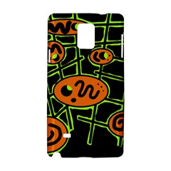 Orange and green abstraction Samsung Galaxy Note 4 Hardshell Case