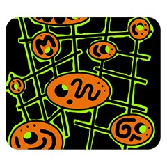 Orange and green abstraction Double Sided Flano Blanket (Small)