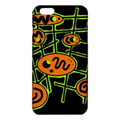 Orange And Green Abstraction Iphone 6 Plus/6s Plus Tpu Case
