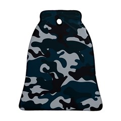 Blue Camo Pattern Bell Ornament (2 Sides)