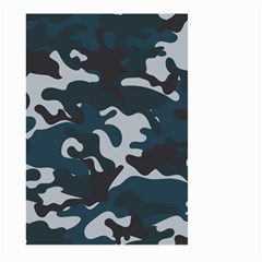Blue Camo Pattern Large Garden Flag (Two Sides)