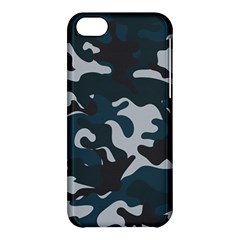 Blue Camo Pattern Apple iPhone 5C Hardshell Case