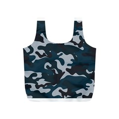 Blue Camo Pattern Full Print Recycle Bags (S)