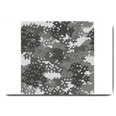 Pixel White Urban Camouflage Pattern Large Doormat