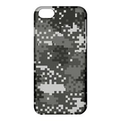 Pixel White Urban Camouflage Pattern Apple iPhone 5C Hardshell Case