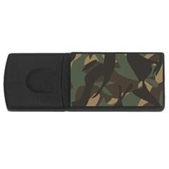Woodland Camo Pattern USB Flash Drive Rectangular (1 GB)