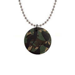 Woodland Camo Pattern Button Necklaces