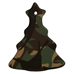 Woodland Camo Pattern Christmas Tree Ornament (2 Sides)