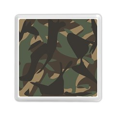 Woodland Camo Pattern Memory Card Reader (Square)