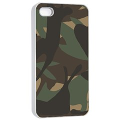Woodland Camo Pattern Apple iPhone 4/4s Seamless Case (White)