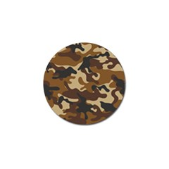 Brown Camo Pattern Golf Ball Marker (10 pack)