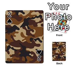 Brown Camo Pattern Playing Cards 54 Designs