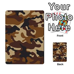 Brown Camo Pattern Multi-purpose Cards (Rectangle)