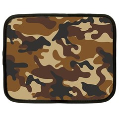 Brown Camo Pattern Netbook Case (Large)