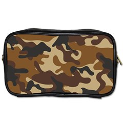 Brown Camo Pattern Toiletries Bags 2-Side