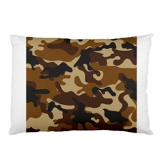 Brown Camo Pattern Pillow Case (Two Sides)