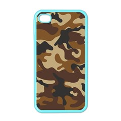 Brown Camo Pattern Apple iPhone 4 Case (Color)