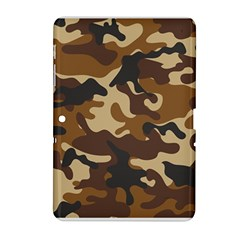 Brown Camo Pattern Samsung Galaxy Tab 2 (10.1 ) P5100 Hardshell Case