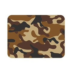 Brown Camo Pattern Double Sided Flano Blanket (Mini)