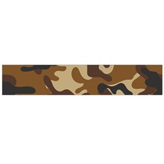 Brown Camo Pattern Flano Scarf (Large)