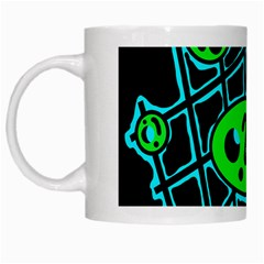 Green and blue abstraction White Mugs