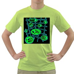 Green and blue abstraction Green T-Shirt