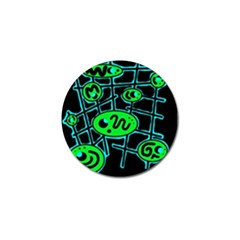 Green and blue abstraction Golf Ball Marker (10 pack)
