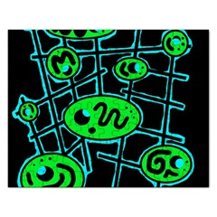 Green and blue abstraction Rectangular Jigsaw Puzzl