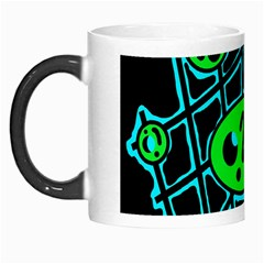 Green and blue abstraction Morph Mugs