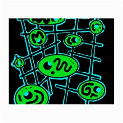 Green and blue abstraction Small Glasses Cloth (2-Side)