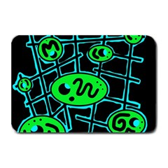 Green and blue abstraction Plate Mats