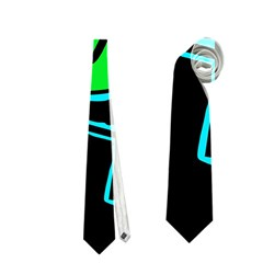 Green and blue abstraction Neckties (One Side)