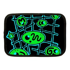 Green and blue abstraction Netbook Case (Medium)