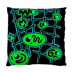 Green and blue abstraction Standard Cushion Case (Two Sides)