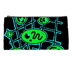 Green and blue abstraction Pencil Cases