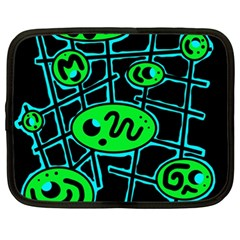 Green and blue abstraction Netbook Case (XXL)