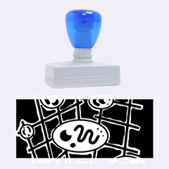 Green and blue abstraction Rubber Stamps (Large)