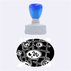 Green and blue abstraction Rubber Oval Stamps