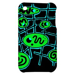 Green and blue abstraction Apple iPhone 3G/3GS Hardshell Case
